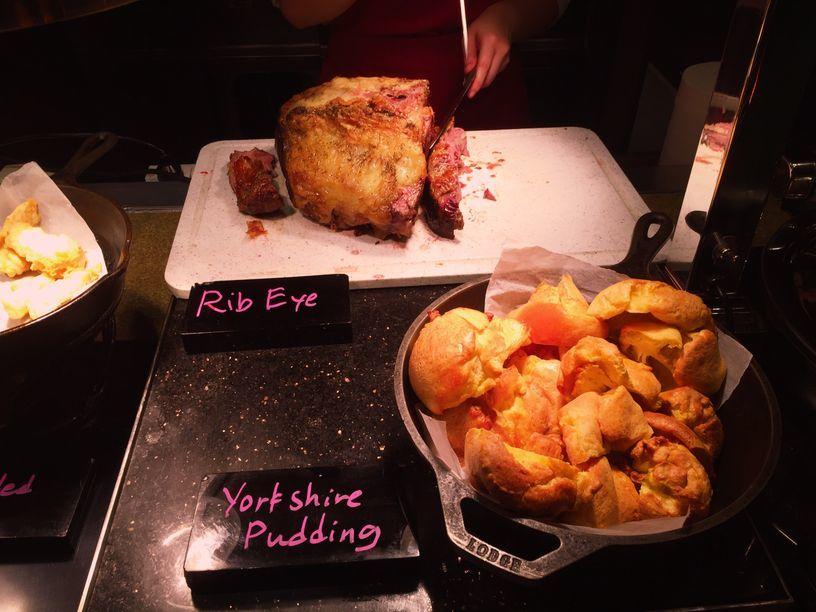 Rib eye steak at the carving station at the Heat Restaurant of EDSA Shangri-La Hotel