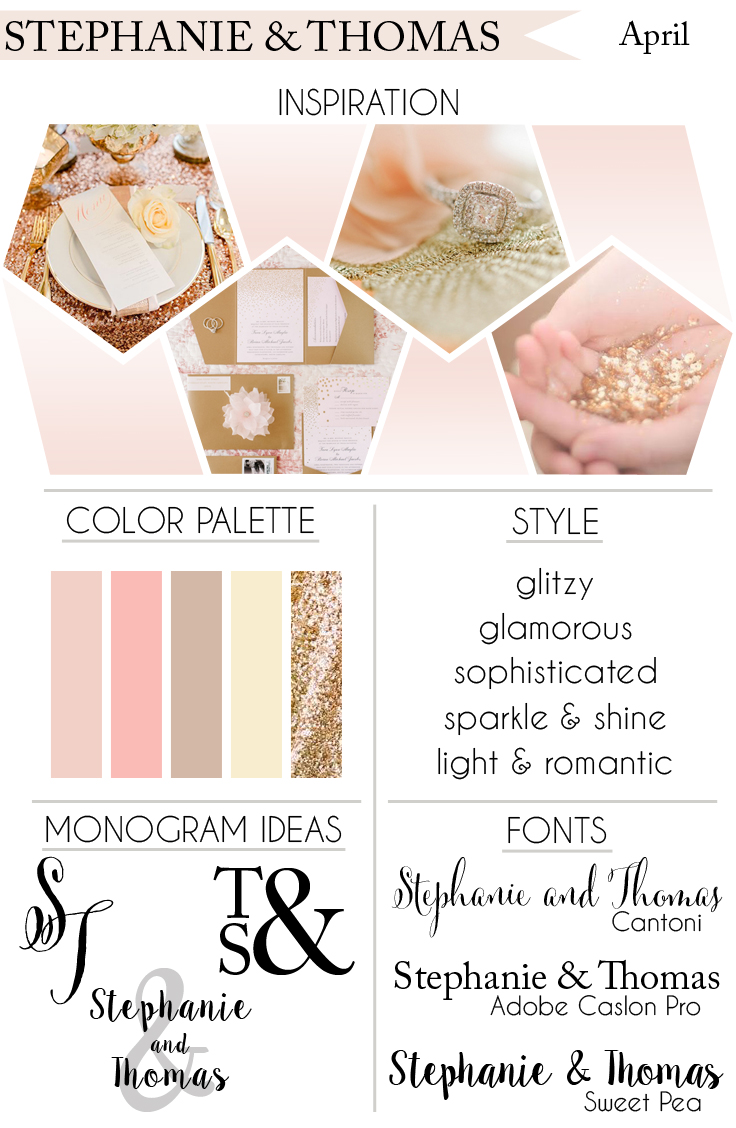 How To Style Your Dream Wedding: Glamorous Blush & Gold