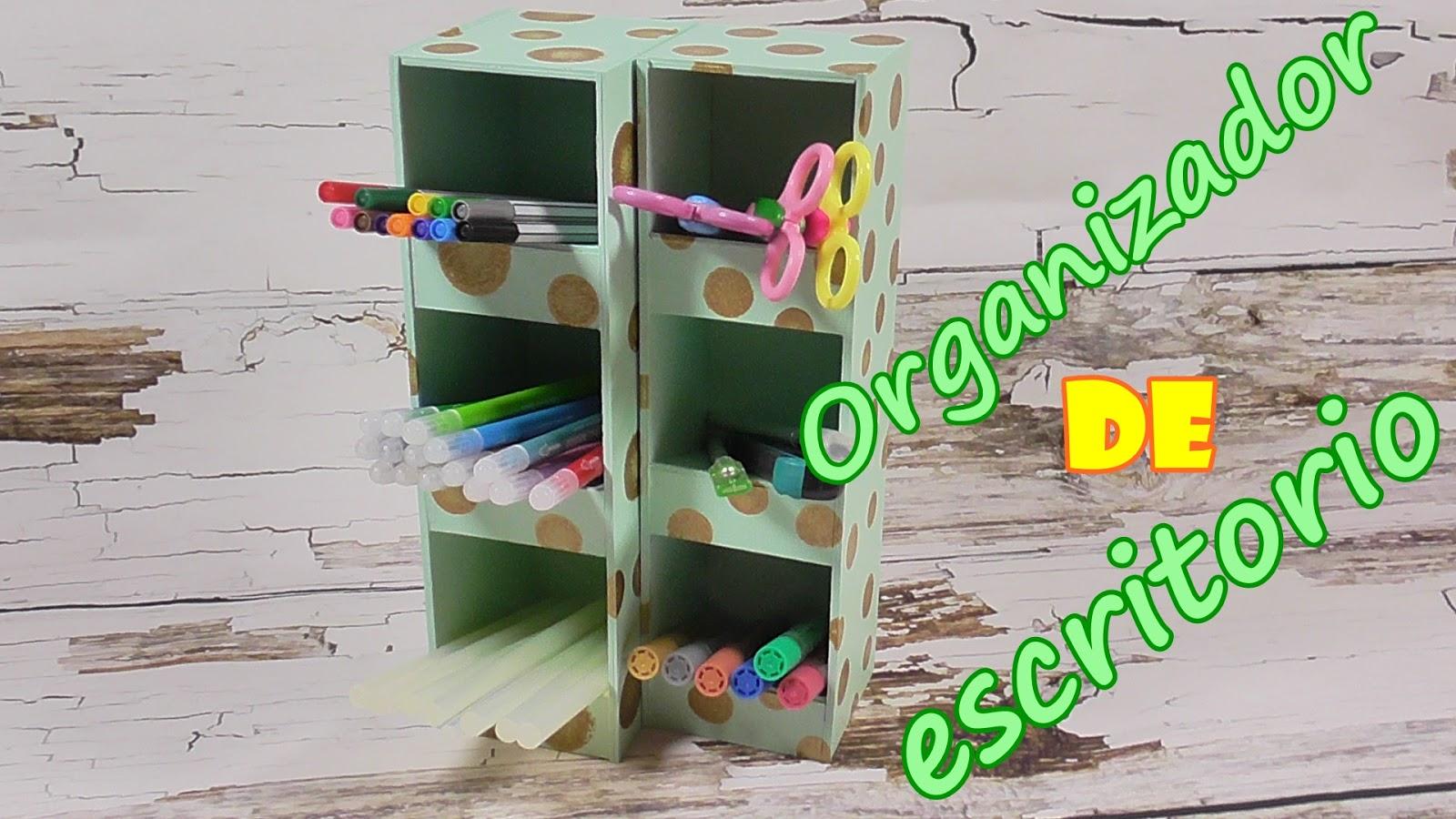 El rinc n de las manualidades caseras organizador de escritorio hecho de cart n - Organizadores escritorio ...