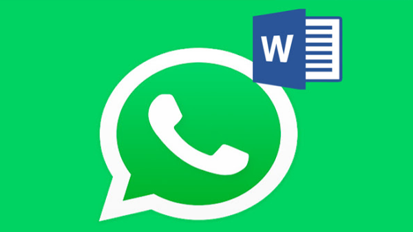 How to save any conversation on Word file requests via whatsapp to read them on any device