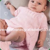 Abrigo de Bebé tejido a Dos Aguja