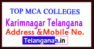 Top MCA Colleges in Karimnagar Telangana