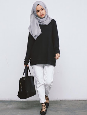 Fashion Wanita Berhijab Simple