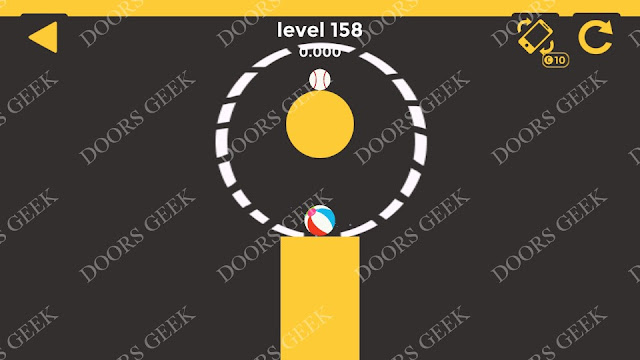 Ball & Ball Level 158 Solution, Walkthrough, Cheats for android and ios