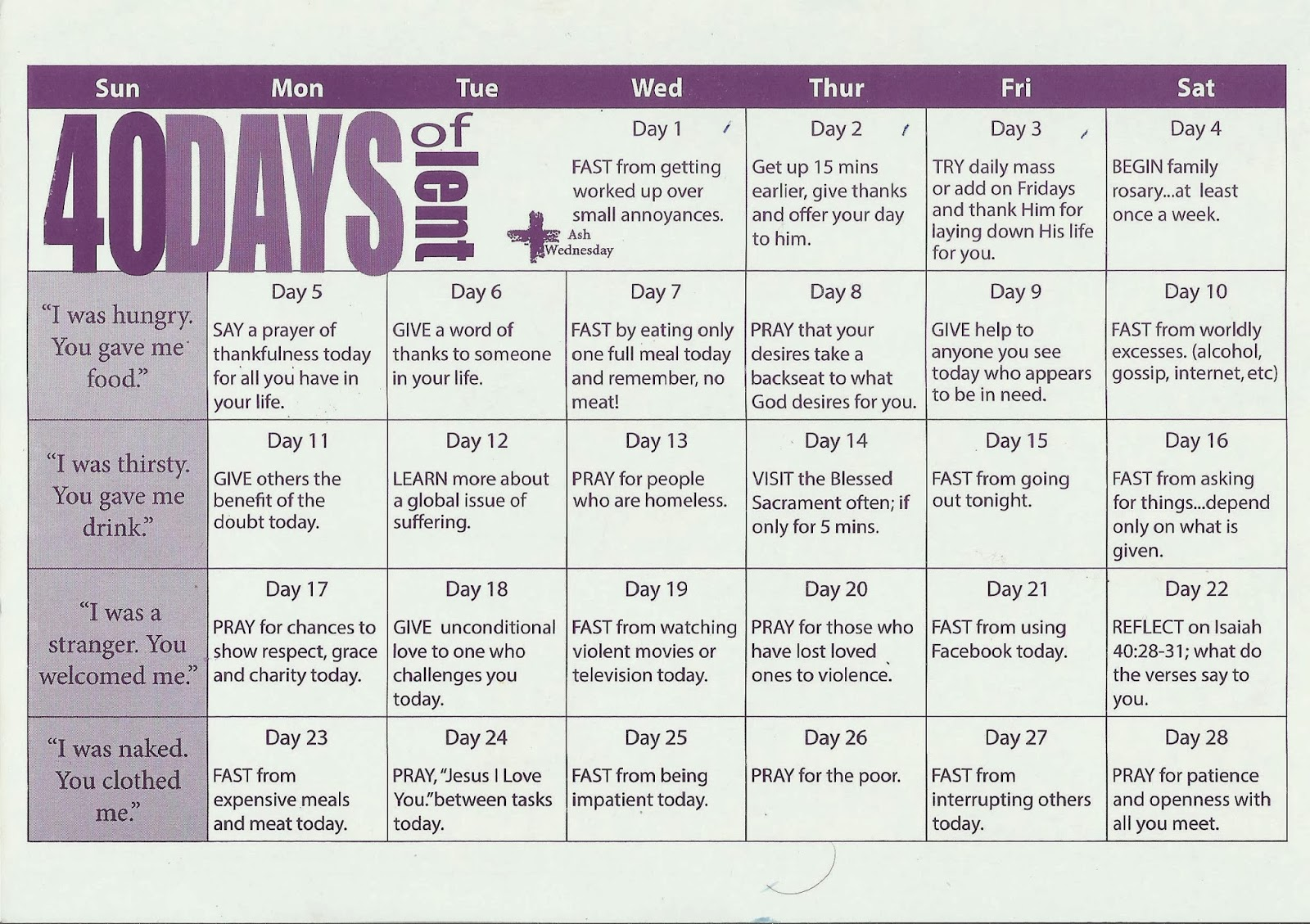 Faithful Resources For All Christian 40 Days Of Lent