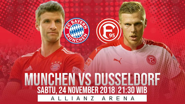 Prediksi Bola Bayern Munchen vs Fortuna Dusseldorf  Bundesliga Jerman