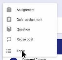 Google Classroom quiz assignment