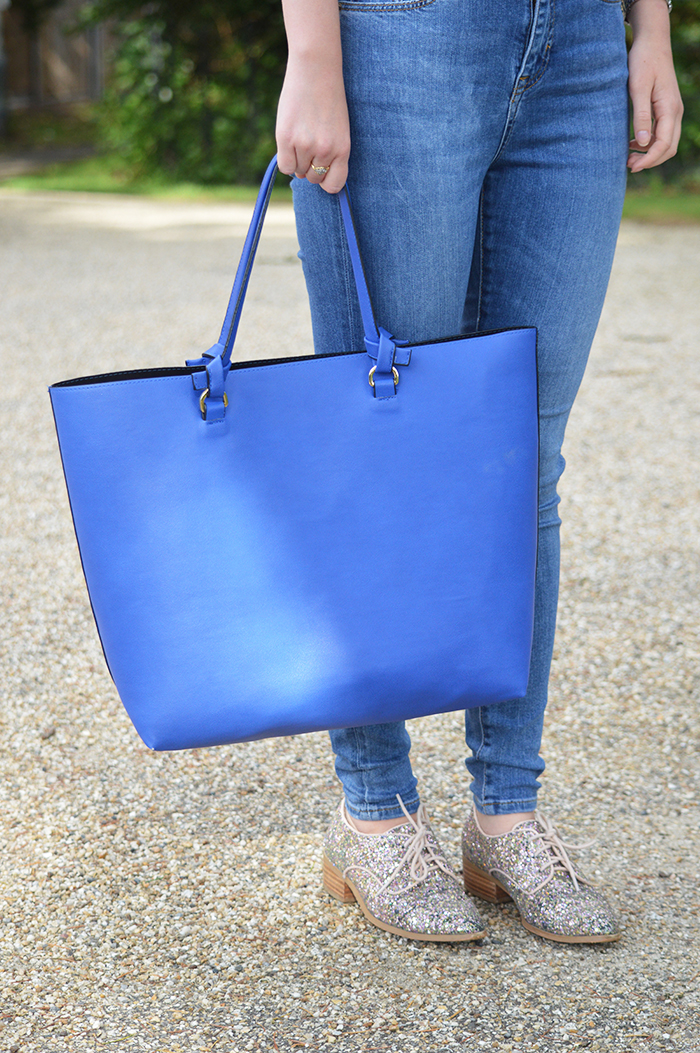 zara blue bag fashion blogger