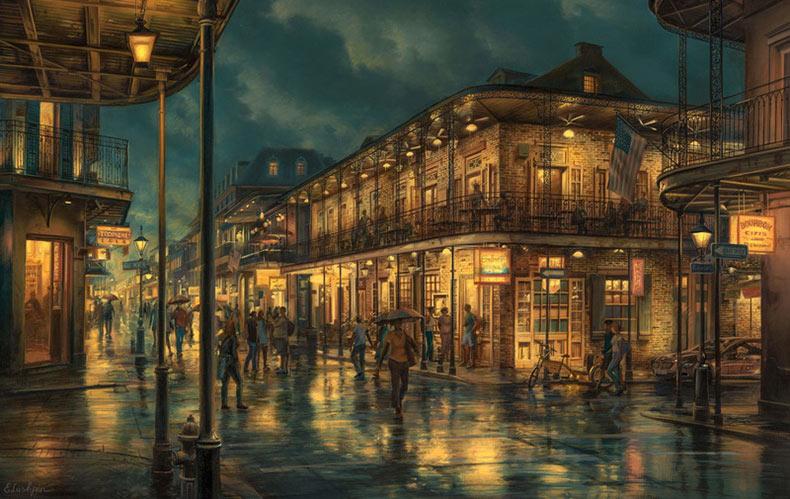 Impresionantes pinturas realistas de paisajes urbanos de Evengy Lushpin