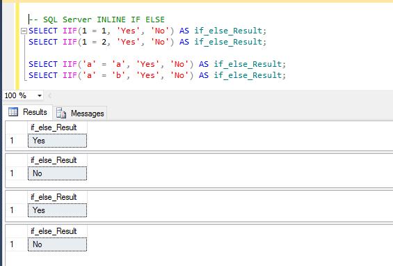 SQL Server INLINE IF ELSE - Angular, TypeScript, Vue