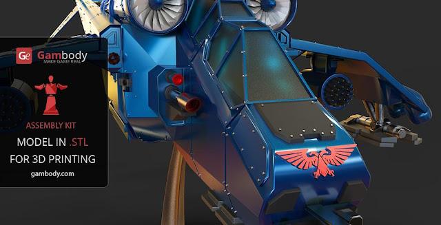 Warhammer40k Valkyrie Vendetta 3D Model