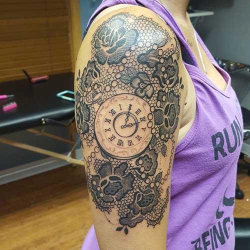dantel dövmeleri lace tattoos 13