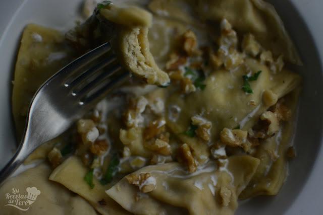 raviolis con queso azul nueces y manzana tererecetas 01