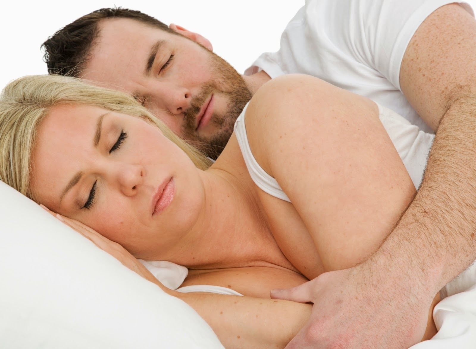 Couple in restful sleep