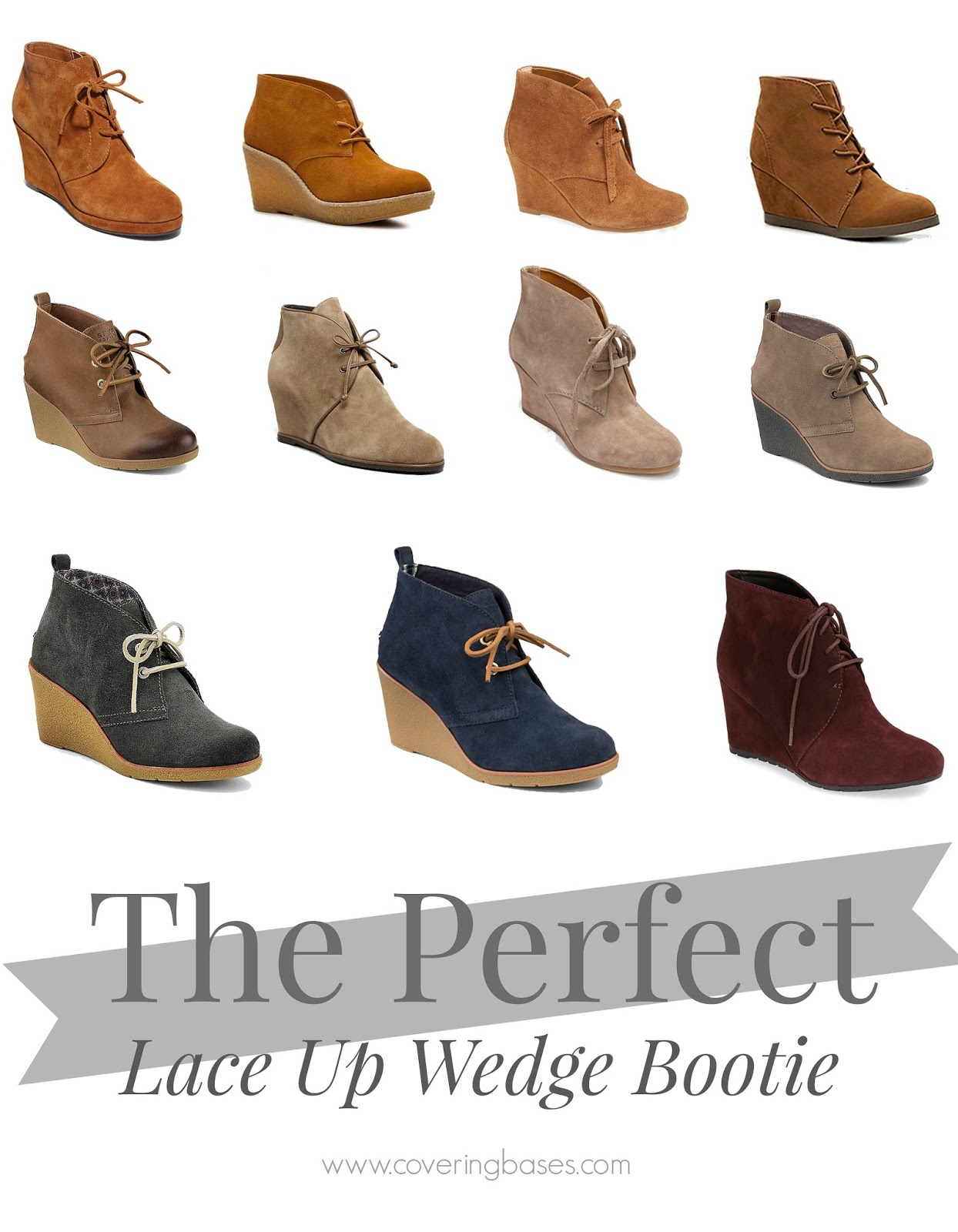 Your Guide to Lace Up Wedge Booties