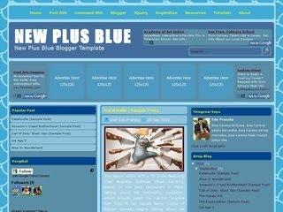 New Plus Blue Blogger Template