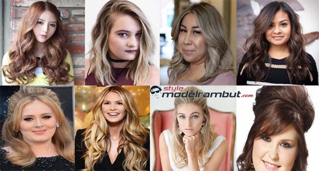 Model Rambut Panjang Untuk Wajah Bulat & Badan Gemuk