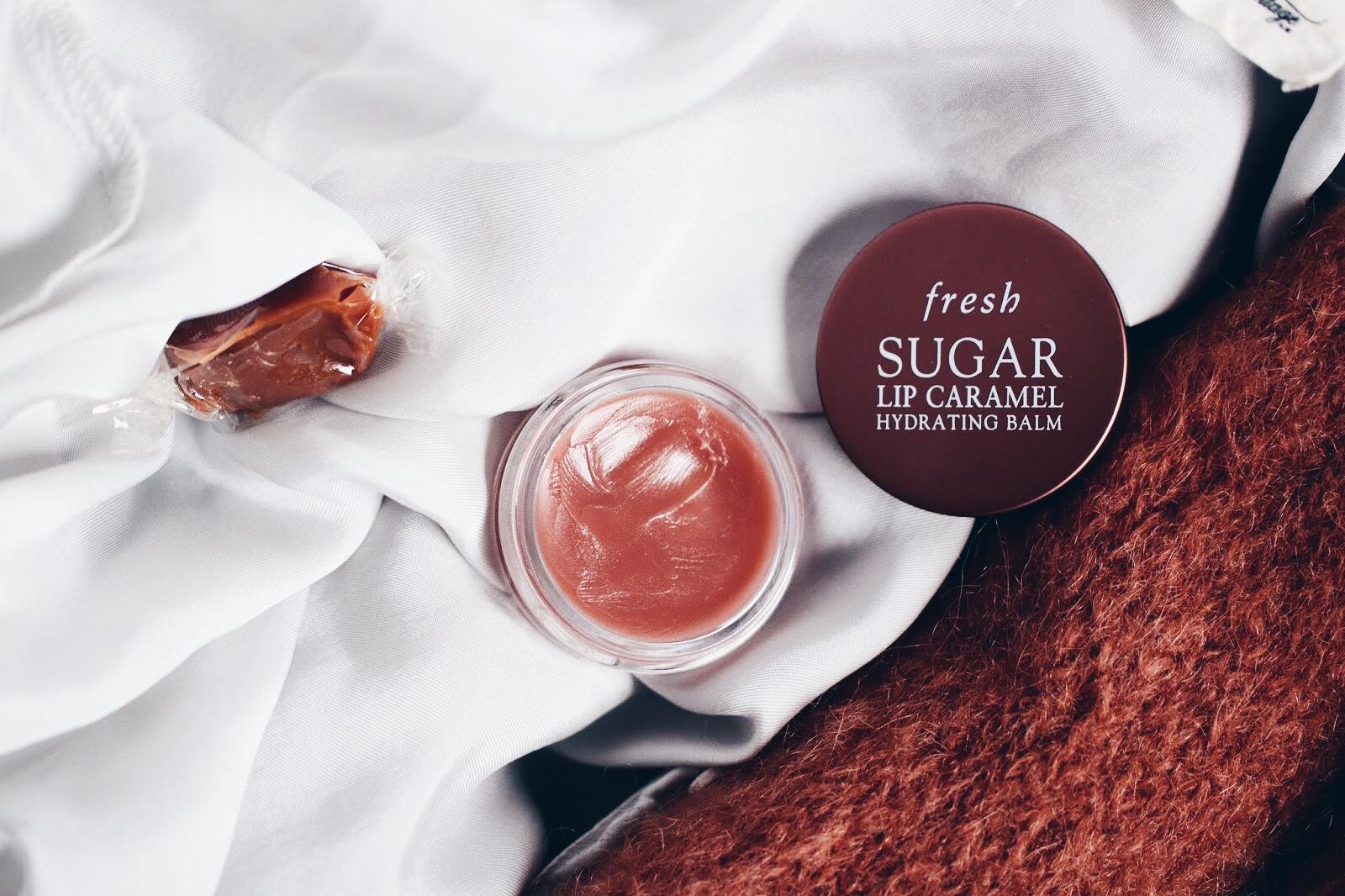fresh sugar lip caramel baume à lèvres hydratant avis test swatch
