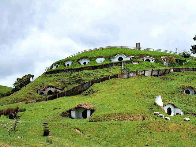 Matamata Town in New Zealand, Hobbit Town, Real Hobbit Town, New Zealand,