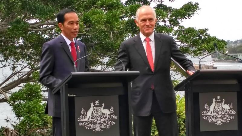 Jokowi dan PM Turnbul gelar jumpa pers
