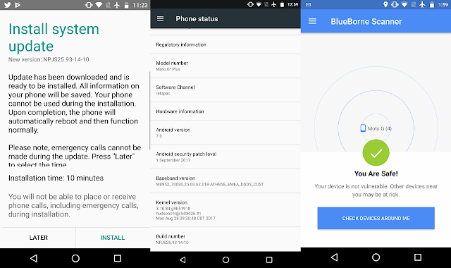 BlueBorne Fix Rolling Out With September Android Security Update for Moto G4 Plus