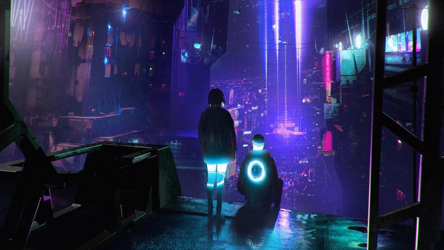 Cyberpunk, City, Night, Sci-Fi, 4K, #4.1058
