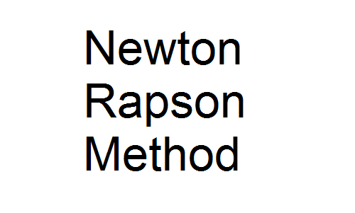 Newton Rapson Method