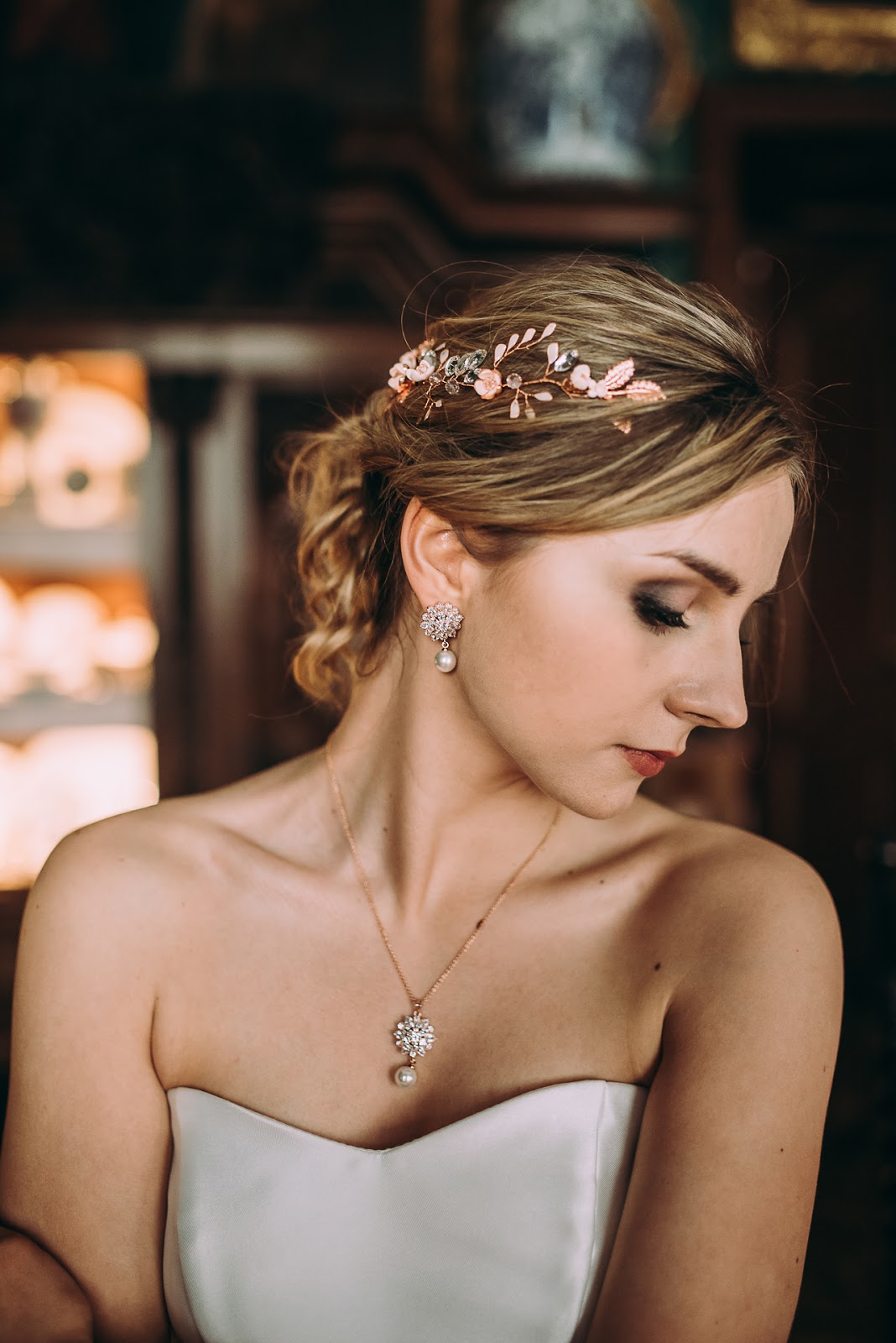 Perłowy komplet Rose Gold
