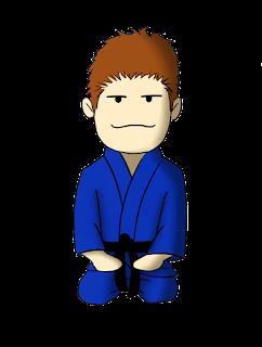 Judoka en position de salut