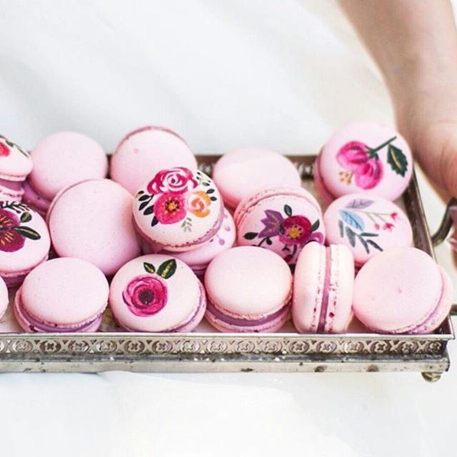 Floral Macarons by @littlebigcompany - Cool Chic Style Fashion