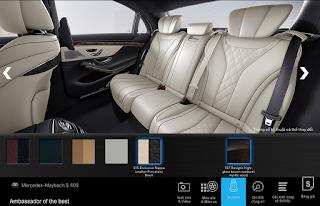 Nội thất Mercedes Maybach S450 4MATIC 2018 màu Vàng Porcelain / Đen 515