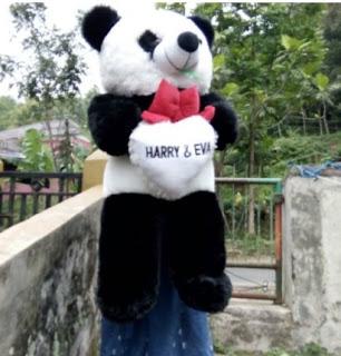 Boneka Panda 100cm Bordir Nama Dasi Pita