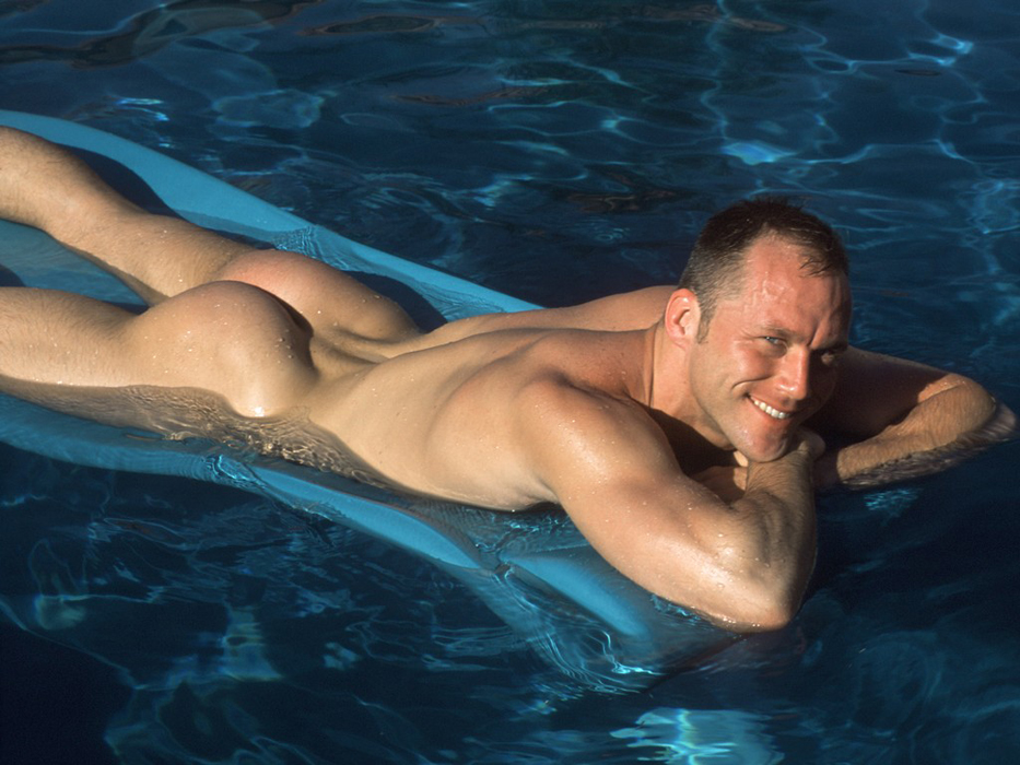hot naked men on the pool