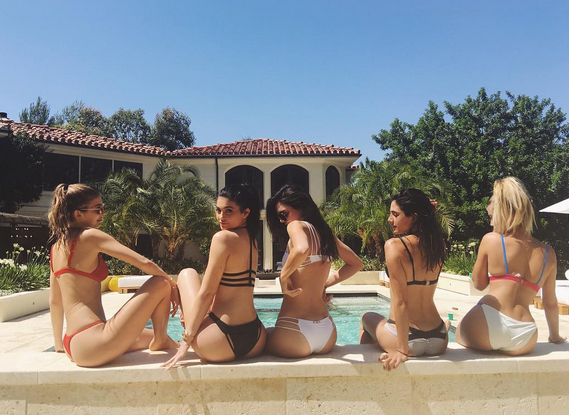 Kylie, Kendall display bikini  and tattoo body 33