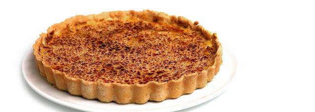 Tarte aux pommes caramélisées et crème brûlée