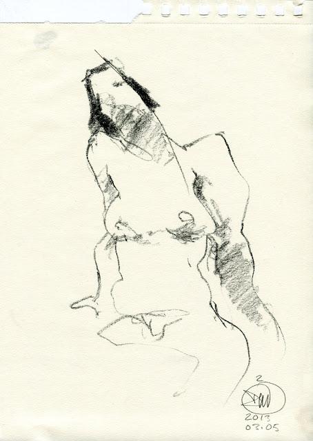 Nude sketch by David Meldrum 20130305