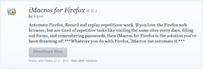 Mozilla Firefox Addons iMacros