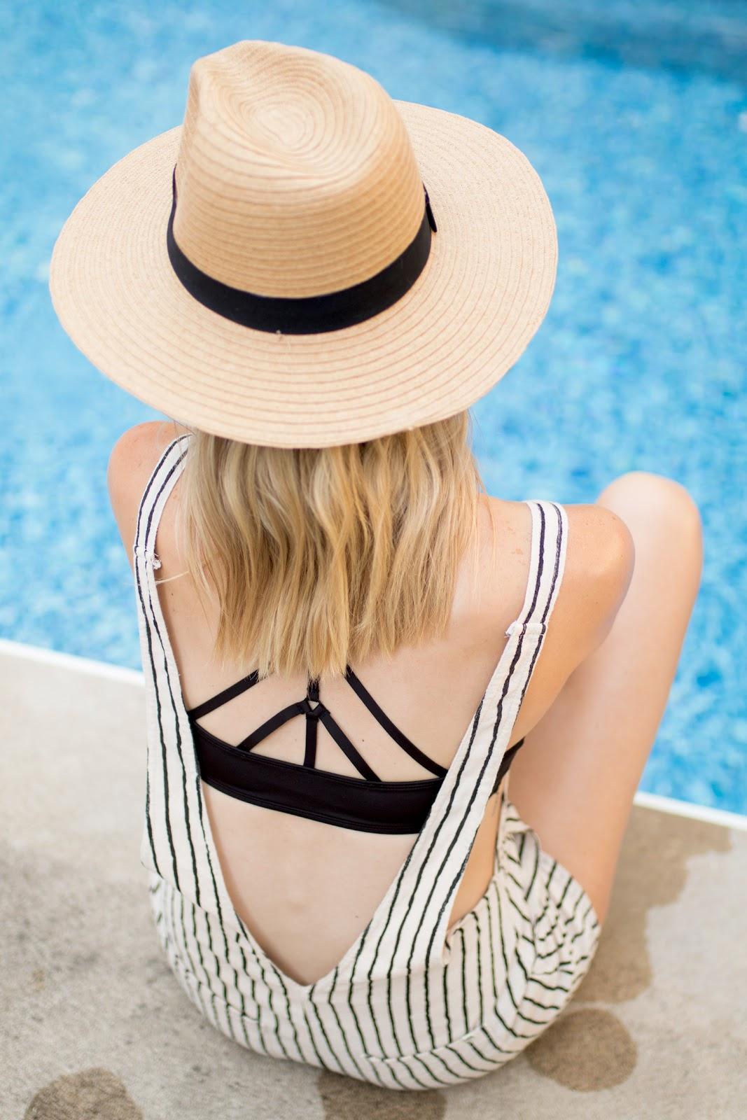 Strappy black bikini