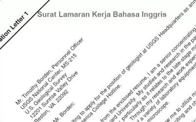 Contoh Surat Lamaran Kerja Bahasa Inggris Terbaru