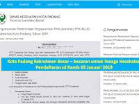 Asisten Apoteker, Rekam medis dan Analis Kesehatan - BLUD Puskesmas se Kota Padang Tutup Kamis 03 Jan 2019