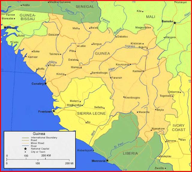 Gambar Peta Guinea