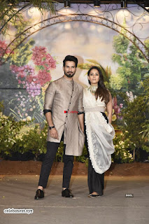 Shahid Kapoor and his wife at Sonam Kapoor Wedding Stunning Beautiful Divas ~ Exclusive