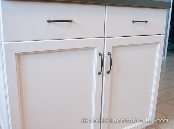 painted kitchen island: BM Advance