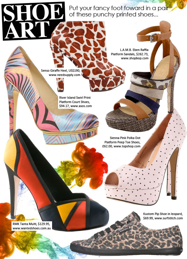 e4dc080bff1 FASHIONS TODAY  Printed Shoe Trend