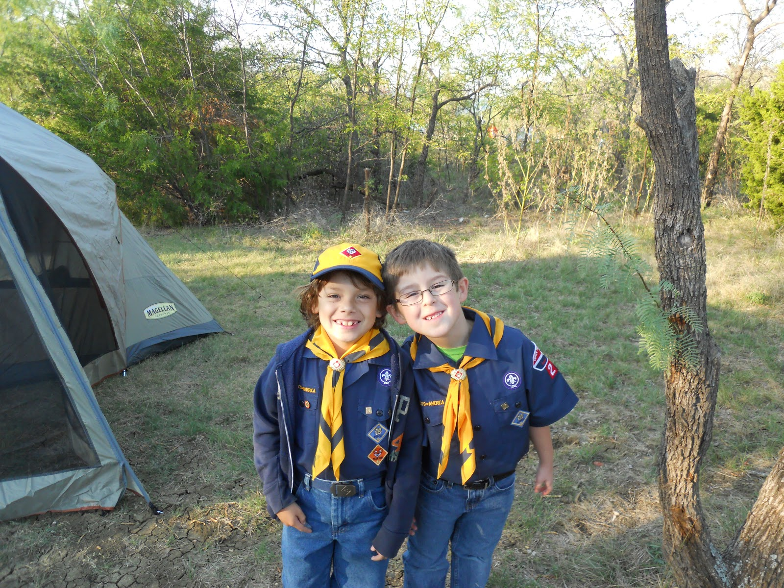 The Mathis Family Caleb S First Cub Scout Camp Out
