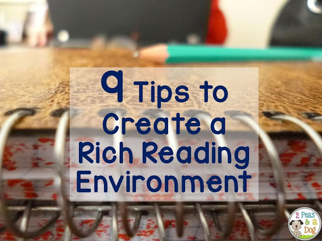 Students will thrive at reading if the classroom is set up to encourage relevant and purposeful reading materials. 9 tips for creating a rich reading environment are shared.