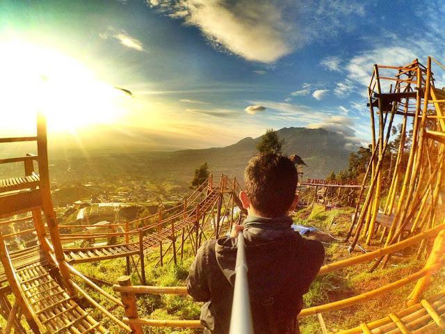 sunrise gardu pandang bukit gancik selo