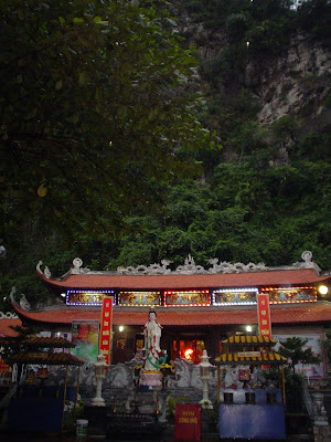 Pagoda in Halong Bay, Vietnam