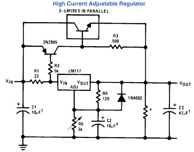 how to outboard transistor to LM317 for current boosting