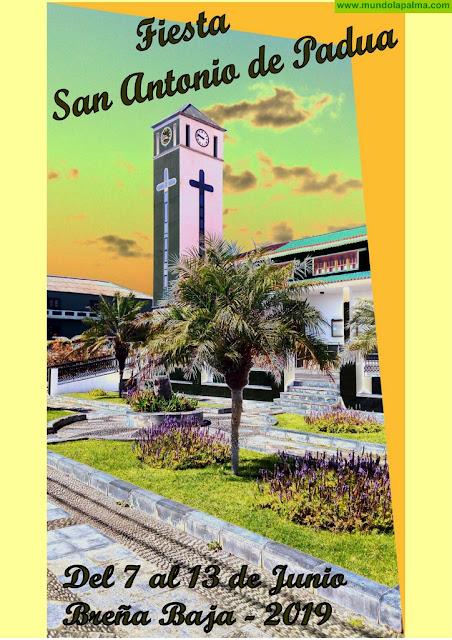 Programa de Actos de la Fiesta San Antonio de Padua 2019 en Breña Baja